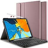 Yocktec Tastatur Hülle für iPad Pro 11 2018 [QWERTZ], Ultra dünn Leicht magnetisch Abnehmbarer Drahtloser Deutsches Bluetooth Tastatur Standplatz Hülle für Apple iPad Pro 11 Zoll 2018 Tablet(Rosegold)