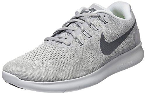 Nike Herren Free RN 2017 Laufschuhe, Grau (Wolf Grey/Dark Grey-Pure Gris Platinum-Off White), 44 EU (Turnschuhe Nike Herren)
