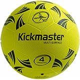 Kickmaster Multi Surface Ball - Black/Yellow,Size  -  4