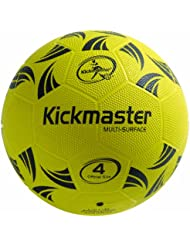Kickmaster Multi Surface Ball - Black/Yellow,Size  -  4