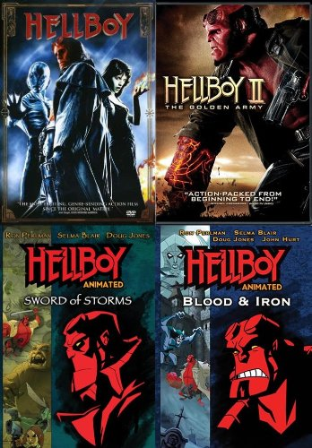 Hellboy DVD Collection - Films & Animation (Hellboy / Hellboy II: The Golden Army / Sword Of Stones / Blood & Iron)