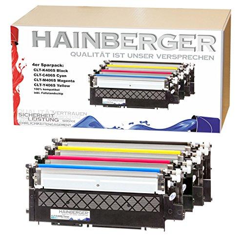 4x Hainberger XL Toner kompatibel zu Samsung Xpress C410W CLP-365/SEE CLP-365 360...