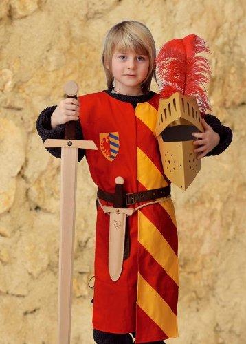 Kostüm Lancelot Ritter - Ritter Gewand Kostüm Kinder Lancelot gelb-rot Grösse 140++