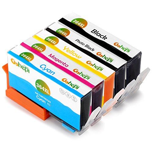 Gohepi 364 XL (1 Nero,1 Nero Foto,1 Ciano,1 Magenta,1 Giallo) Compatibil Cartucce HP 364XL per HP Photosmart 5520 6520 5510 7520 B110 C309 B8850,HP Deskjet 3070A 3520 3522,HP Officejet 4620 4622 4610