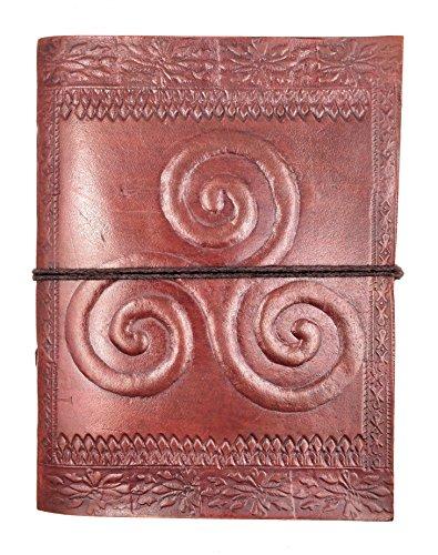Chic & Zen–Cuaderno, bloc de notas, diario, libro, piel auténtica, Vintage, Triskel 13cm * 17cm, papel Premium