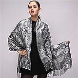 STZHIJIA Nuevo Diseño De Bufanda De Invierno De Algodón De Mujeres Impreso Mantón De Paquete De Estilo Étnico Moda Clásica Bufanda