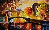 LONGYUCHEN Benutzerdefinierte 3D Seide Wandbild Tapete Ölgemälde Stil Italienische Stadt Landschaft Geeignet Für Tv Hintergrund Wand Schlafzimmer Wohnzimmer Dekoration Wandbild,280Cm(H)×460Cm(W)