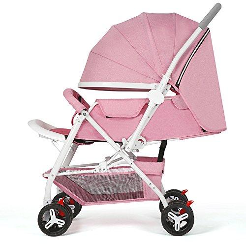 WUZHI Off-Road-Fahrzeug Zwei-Wege-ultraleichte Vierrädrige Kinderwagen Tragbare Klappbare Sitzwagen...