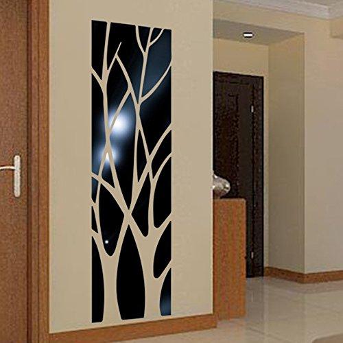 Zegeey DIY Moderne Spiegel Stil Abnehmbare Aufkleber Kunstwand Aufkleber Home Room Decor