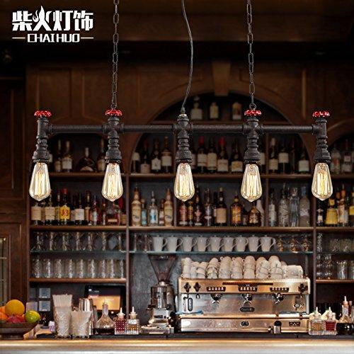 Wandun Ftte Retro Illuminazione E Personalità Creativa Del Controllo Industriale Bar Bar Caffetterie Ristoranti Lampadario (Nero Pendente Di Vetro Di Murano)
