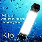 Ryham linterna farol de camping luz de emergencia recargable de buceo portátil 250LM IP68 para senderismo deporte Caza