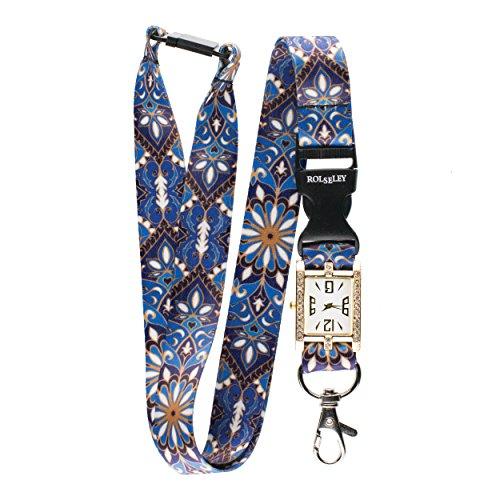 - Ornament Lanyard integrierter Taschenuhr Krankenschwester Beautiful Umhängeband Armbanduhr -