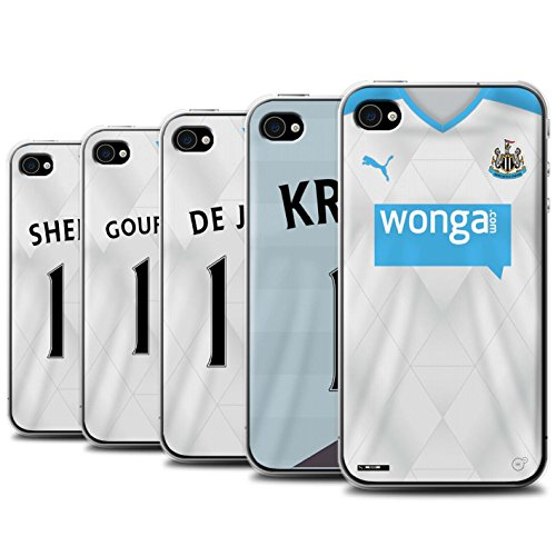 Offiziell Newcastle United FC Hülle / Case für Apple iPhone 4/4S / Pack 29pcs Muster / NUFC Trikot Away 15/16 Kollektion Pack 29pcs