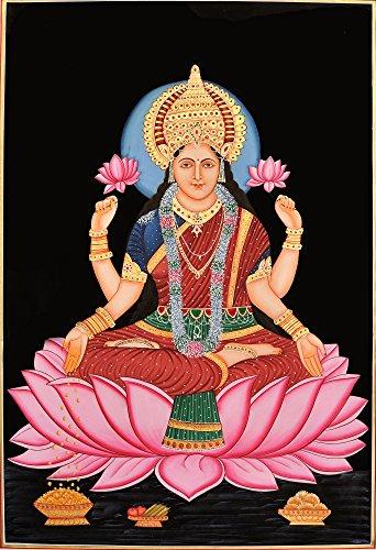 lakshmi-diosa-de-la-paz-la-prosperidad-y-buena-suerte-watercolor-sobre-algodon