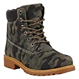 Warm Gefütterte Worker Boots Damen Outdoor Stiefeletten Robust 152609 Camouflage Brooklyn 40 Flandell