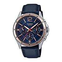 Casio Blue Leather Multi function Men Watch MTP-1374L-2AVDF