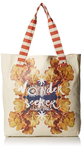 Volcom Damen Handtasche Surf Sand Shine Tote Burnt Sienna, 38 x 40 x 7 cm, 0.1 Liter - Volcom-print-rucksack