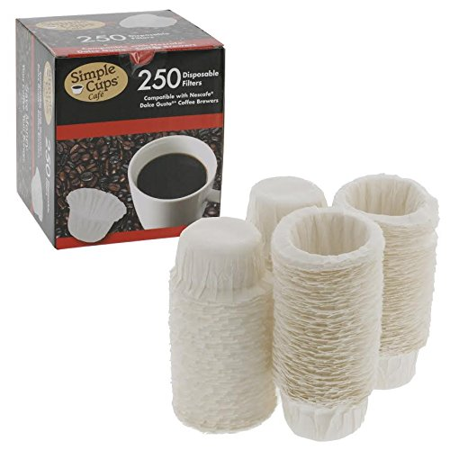 Nescafe filtros desechables de café Nespresso (250unidades)–para uso con Melody, Genio/Picolo y Mini Me, no Circolo y Esperta