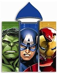Cape / sortie de bain Poncho Avengers Hulk Ironman Captain America Coton 60 cm x 120 cm