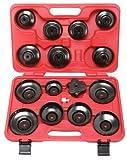 KS Tools 150.9310 - Set di chiavi per filtro dell'olio, a forma di tazza, 1 cm (0,375 pollici), 16 pezzi
