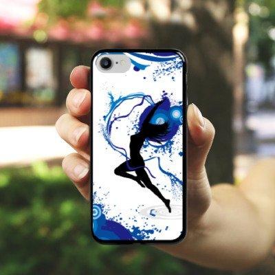 Apple iPhone X Silikon Hülle Case Schutzhülle Tanzen Dance Weiblich Hard Case schwarz