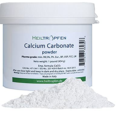 Calcium Carbonate Powder, Pharmaceutical grade, 1lb-454g, Highest purity Limestone from S3