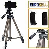 Eurosell Alu Full Size 130cm Smartphone / iPhone Stativ Kamerastativ Foto Video Halter Halterung Ständer Hoch Groß