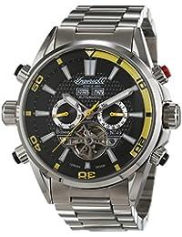 Ingersoll IN1507BKYL - Reloj para hombres, correa de metal color acero