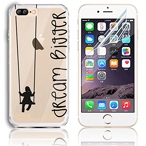 Coque iPhone 7 Plus, Etui iPhone 7 Plus Transparent Etui Housse de Protection TPU Silicone Gel Souple Clair Crystal Case Cover Sunroyal® Ultra Mince Premium Telephone Portable Skin Hybrid Clear Bumper Motif 25