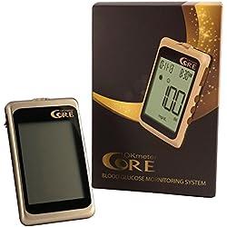 Glucometro y Medidor de Glucosa | Monitor de Glucosa en la Sangre | Kit de Prueba de Diabetes con 10 Tiras Reactivas Glucosa, Lancetas y Dispositivo de Lanza para el Manejo de la Diabetes | 4 Configuraciones de Alarma | 450 Prueba de Memoria | USB