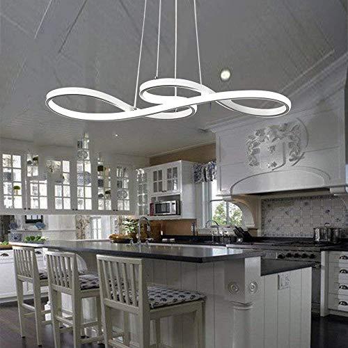 HSWR LED Pendelleuchte esstisch Dimmbar Pendellampe Höhenverstellbar schwarz Hängeleuchte esszimmer Hängelampe mit den Fernbedienung für Arbeitszimmer Wohnzimmer Küche Restaurant Büro (Fernbedienung)