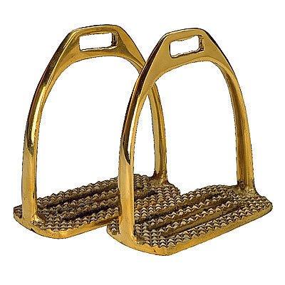 Steigbügel / Messing 12cm Goldfarbig Standartgröße