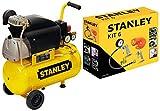 Compressore aria Stanley D210/8/24 24 lt lubrificato 2 HP 8 bar + KIT accessori 6 pz