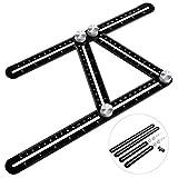 FIXKIT Template Tool Angleizer Multi-Winkel Lineal Alu Winkelschablone/ Winkelmesser (Alu Lineal Winkelschablone)