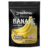 Sortenreine Bio getrocknete Bananen Gros Michel Scheiben 500g, 80% weniger Fruchtzucker, aus Kamerun in Rohkost-Qualität, getrocknet, ohne Zucker, ungeschwefelt, naturbelassen, FAIR TRADE