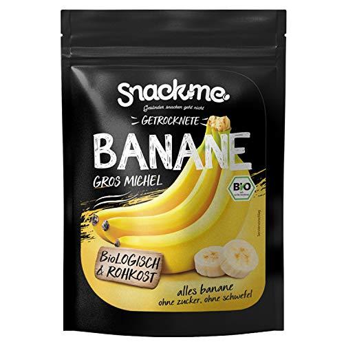 Getrocknete Bananen Gros Michel ✔ 100% Bio- und Rohkost ✔ 80% weniger Zucker als herkömmliche Trockenfrüchte ✔ IDEAL FÜR VEGANER ✔ ohne Zuckerzusatz ✔ ohne künstliche Zusätze ✔ ungeschwefelt ✔ naturbelassen ✔ von Profi-Sportlern empfohlen ✔ schonend getrocknet ▬ 150 Gramm ▬ getrocknete Bananen ohne Zucker ▬ getrocknete Bananen ungesüßt ▬ getrocknete Bananen ungeschwefelt ▬ Bananen getrocknet ungesüßt ▬ getrocknete Bananen ungezuckert ▬ Trockenfrüchte ▬ Bananen getrocknet ▬ Bananenscheiben