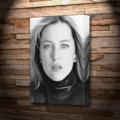Seasons GILLIAN ANDERSON - Canvas Print (A5 - Signed by the Artist) #js007