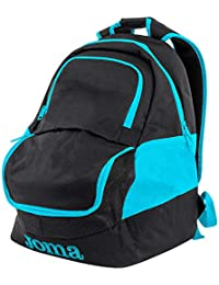 Joma Diamond II Mochila, Talla única, Black/Fluoro Turquoise Blue