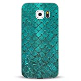 Alsoar Samsung Galaxy S7 Slim Hülle, Marmor Wood design Weiche Flexible Crystal Ultra dünn TPU Gel HandyHülle Case Kratzfest Stoßfest Premium Schutzhülle für Samsung Galaxy S7 (Fischschuppen)