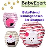 Bebé Friend ---3er Pack de ahorro lavable aprendizaje para pañales de creación de punto de limpia se ---Pañal de aprendizaje ---10-14 kg ---Bañador pañal/pantalón deportivo