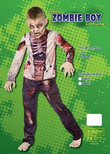 Imagen de zombie muchacho 3d  traje de halloween  niños disfraz  medium  128cm  edad 6 8 alternativa