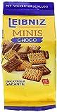 Leibniz Minis Choco im 8er Pack— Mini-Butterkekse mit Schokolade — Schoko-Kekse in der Großpackung — Keks-Box mit Butter-Gebäck in 8 Kekstüten — Vorrats-Box (8 x 125 g)