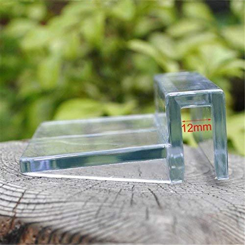 Arteki 4pcs Plastic Clear Clips Glass Cover Support Holder Aquarium Fish Tank 6/8/10/12mm Support (4#) Clear Cover Clip