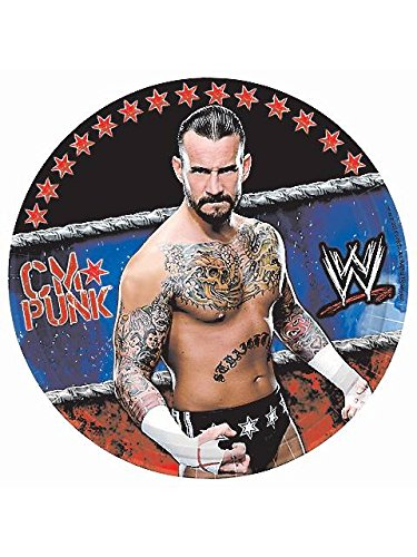 Paper Plates (8ct) (Wwe Party Supply)