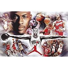 Póster de Michael Jordan Colaje (91,5cm x 61cm)