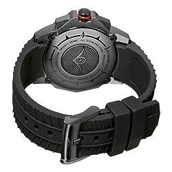 Stuhrling Original Mens 300B.335664 Commander Swiss Quartz Chronograph Black Watch