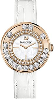 Swarovski Women'S White Dial Leather Band Watch - 1187023, G