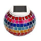 REFURBISHHOUSESolar Glaskugel Tisch Licht Farbwechsel, Wasserdichte Dekorative Led Nachtlicht Für Weihnachten Haus Schlafzimmer Hof Patio, Perfekte Geschenke-Regenbogen