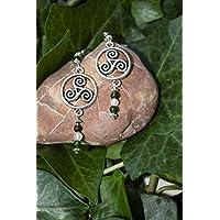 Pendientes con el símbolo celta del Triskel/Regalo mujer celta/Boho/Pendientes yoga/Pendientes espirituales/Druida/Celtas/Lohas/Amuleto