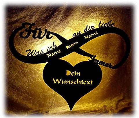 Schlummerlicht24 was ich an dir Liebe Geschenke Frauen Männer Freund Freundin Led Jahrestagsgeschenk Geschenk mit Name Datum Text